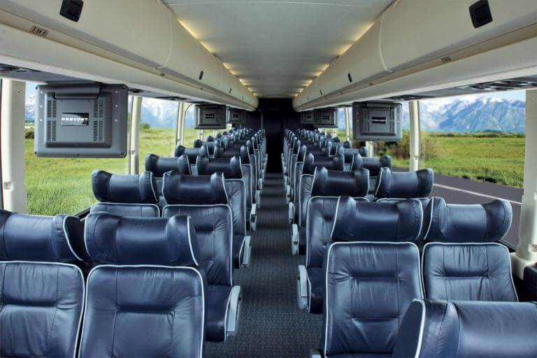 Corporate Event Charter Bus Interior